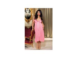 Queen Fashion Long Gown Shirley of Hollywood 20549X Pink 2X