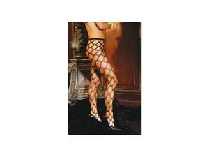 Elegant Moments Mesmerizing Diamond Lace Pantyhose 1737 Black One Size Fits All