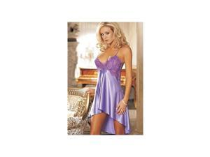 Violet Charmeuse Chemise with Overlapping Lace 20365 Shirley Violet Small