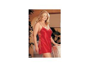 Shirley of Hollywood Side Lace-Up Chemise XX20015 Red 4X