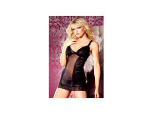 Be Wicked Black Mesh Chemise BW1346 Black Medium