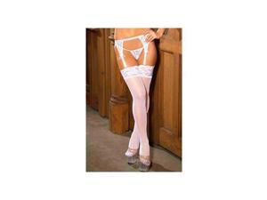 Elegant Moments Sheer Thigh Hi?s 1753 Black One Size Fits All
