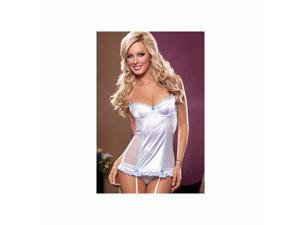 Seven til Midnight White Sophia Chemise Set 9219-W White Large