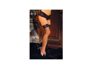 Elegant Moments Fishnet Thigh High?s & Lace Top 1775X Black One Size Fits All -