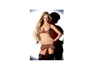 Escante Busty Bra Set 1084H Animal Print One Size Fits All