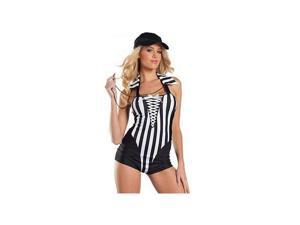 Be Wicked Sexy Ref Costume BW1124 Black Small/Medium