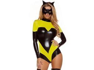 Nocturnal Knockout Superhero Costume 553711 by Forplay Yellow Small/Medium