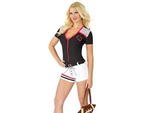 Fantasy Quarterback Costume M6189 Coquette White/Black Small/Medium