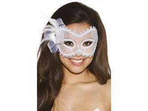 White Lace Mask 925 Shirley White One Size Fits All