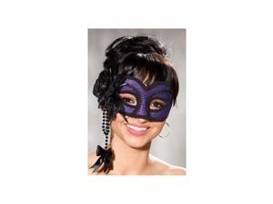 Shirley of Hollywood Purple Velvet Half Mask 917 Purple One Size Fits All