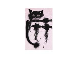 Shirley of Hollywood Black Cat Set 910 Black One Size Fits All