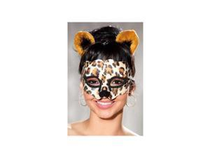 Shirley of Hollywood Leopard Mask And Ears Set 922 Leopard One Size Fits All