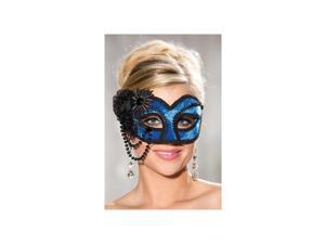 Shirley of Hollywood Royal Velvet Half Mask 916 Royal One Size Fits All