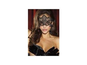 Embroidered Venice Mask 90348 Shirley Black One Size Fits All