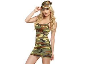 Cute Camo Dress 9527 by Dreamgirl Camouflage Large