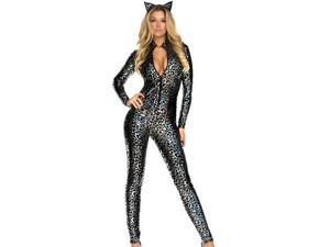Forplay Lustrous Lynx Cat Costume 554621 Silver Large/Xtra Large