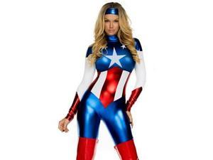 Forplay Star Spangled Sexy Hero Costume 554700 Red/White/Blue Small/Medium