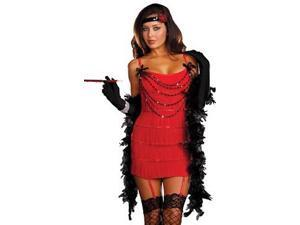 Dreamgirl Ruby Red Hot Flapper Costume Set 7474 Red/Black Xtra Large