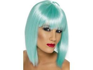 Smiffy's Neon Aqua Short Glam Wig 34819