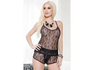 Coquette Sheer Lace Cami Top 166 Black One Size Fits All