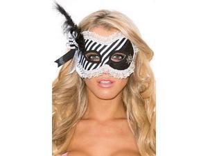 Hidden Treasures Eye Mask Shirley of Hollywood 929 Black/White One Size Fits All