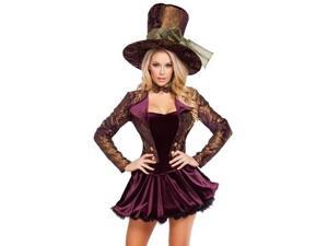 Tea Party Tease Costume Roma Costume 4610 Purple/Gold Large