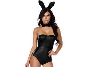 Bold Bunny Costume Forplay 555136 Black Small/Medium