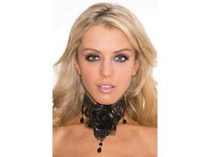Black Rose Choker Shirley of Hollywood 936 Black One Size Fits All