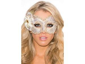 Golden Goddess Eye Mask Shirley of Hollywood 931 White/Gold One Size Fits All
