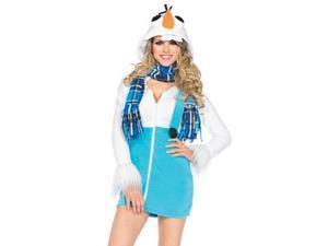 Cozy Snowman Costume Leg Avenue 85524 Blue/White Xtra Small