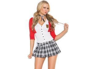 Dean List Diva Costume Elegant Moments 9113 Red/White Medium