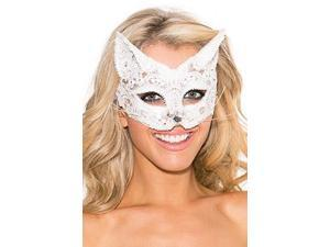 Purrfect Lace Eye Mask Shirley of Hollywood 939 White One Size Fits All