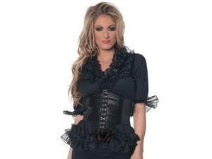 Romantic Pirate Blouse Underwraps Costumes 28388 Black Xtra Large