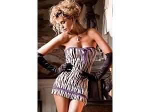 Baci Lingerie Jungle Love Chemise 56 Zebra/Purple One Size Fits All