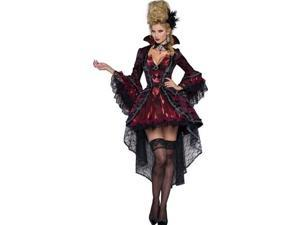 Victorian Vamp Costume In Character Costumes 8038 Red/Black Xtra Small
