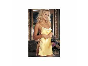Buttercup Charmeuse And Dyed Lace Chemise 20015 Shirley Buttercup Small