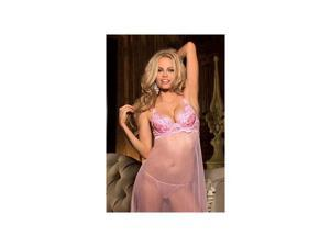 Shirley of Hollywood Super Sequined Long Gown 25346 Pink Medium