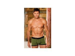 Shirley of Hollywood Lift and Support Mens Boxers 556-O Olive Small
