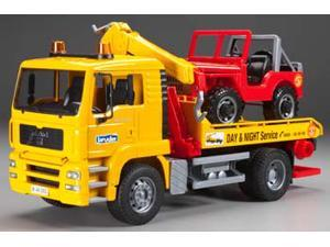 2750 MAN TGA Tow Truck w/4x4 Vehicle BTAH2750 BRUDER TOYS AMERICA, INC.