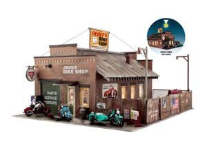 Deuce Cycle Shop Built up and Ready O Scale WOOU5846 DESIGN PRESERVATION MODELS
