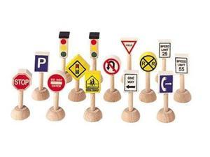 Plan Toys Set of Traffic Signs and Lights 1 (Usa) 6010 PLAN TOYS
