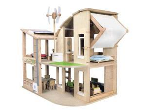 Plan Toys The Green Dollhouse with Furniture 7156