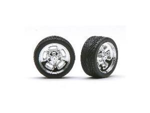 Chrome Hella's w/Tires (4) PGH1277 PEGASUS HOBBIES