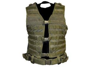 NcStar Paintball Molle/Pals Airsoft Vest - Green - Medium