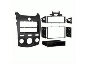 2010-Up Kia Forte/ Forte Koup DIN & DDIN Radio Install Kit  Black