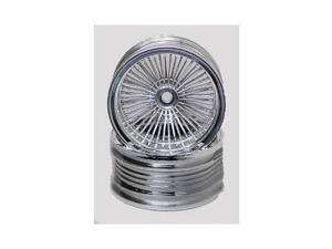 3001 1/10 Chrome Wire Rims (2) PGHC3001 PEGASUS HOBBIES