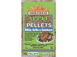 Smokehouse Products 9770-020-0000 5-Pound Bag All Natural Apple Flavored Wood Pellets, Bulk 111261 SmokeHouse