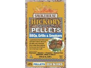Smokehouse Products 9760-020-0000 5-Pound Bag All Natural Hickory Flavored Wood Pellets, Bulk 111259 SmokeHouse