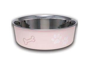 Loving Pets Paparazzi Pink Stainless Steel Bella Bowl LP7400 LOVING PETS, INC