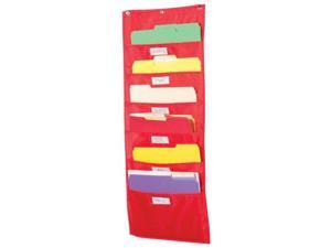 Storage Pocket Chart 5 Pockets Red 14 x 32